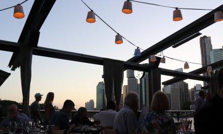 Dining at Greca at Howard Smith Wharves
