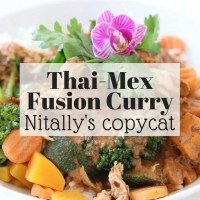Thai-Mex fusion: Panang mole sauce