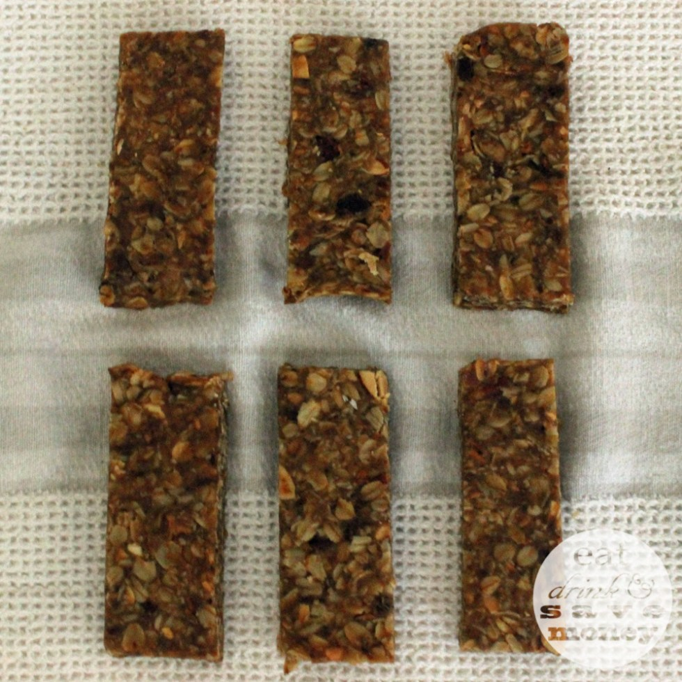 Make your own granola bars from mixed nuts and dates