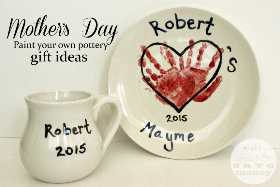 Mother's Day paint your own pottery gift ideas