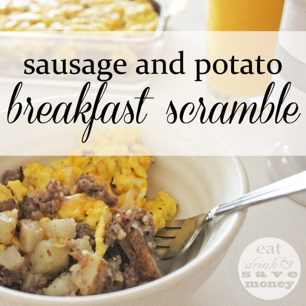 Sausage and potato breakfast scramble recipe.  This is the easiest breakfast to treat your kids for back to school.