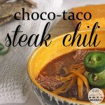 Choco-taco steak chili