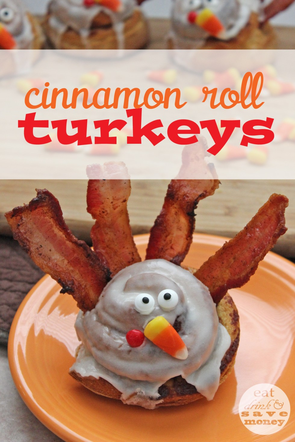 Cinnamon roll turkeys are an easy way to enjoy a fall family breakfast
