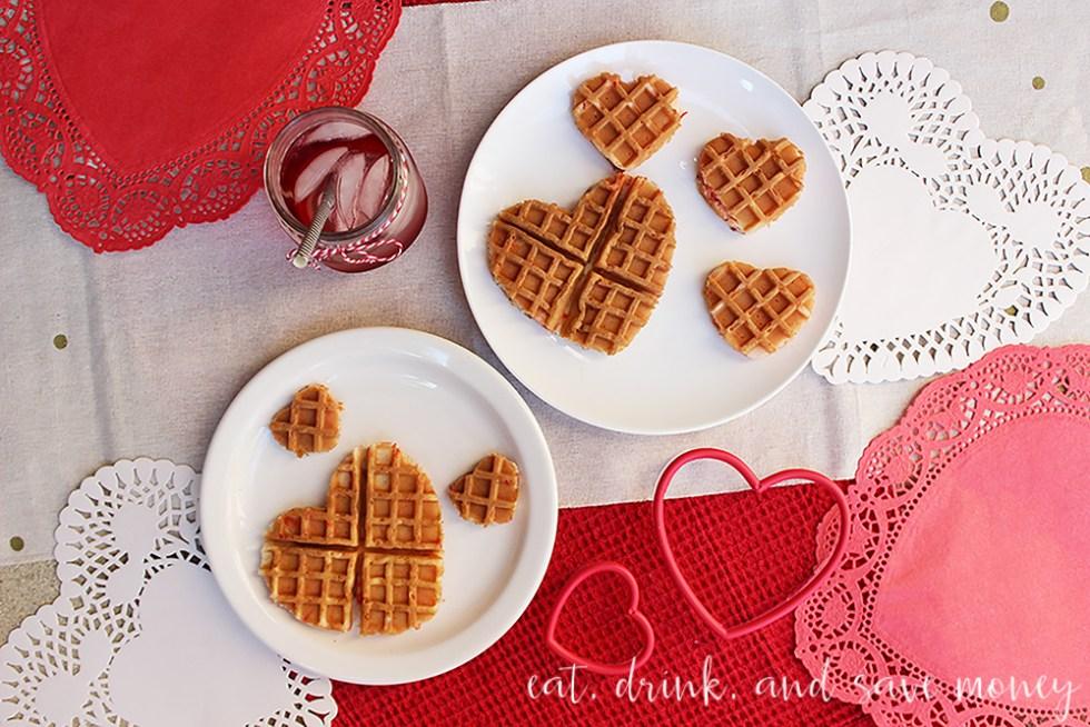 Funfetti Valentine's Day waffles