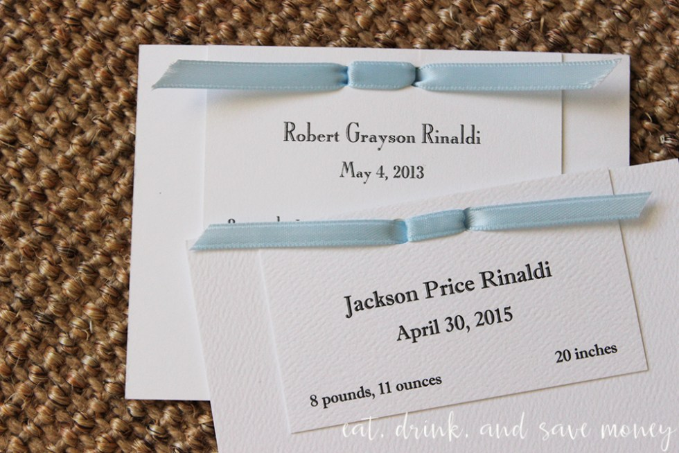 Can you tell the difference between these birth announcements