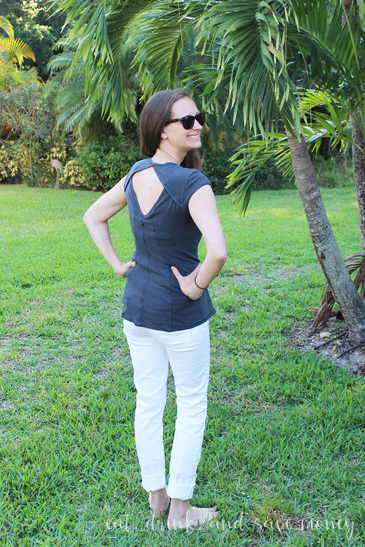 PrAna Outfit review back of shirt