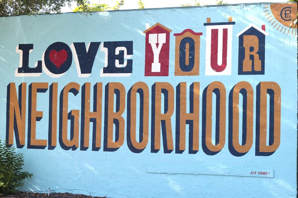 Love your neighborhood mural St. Petersburg
