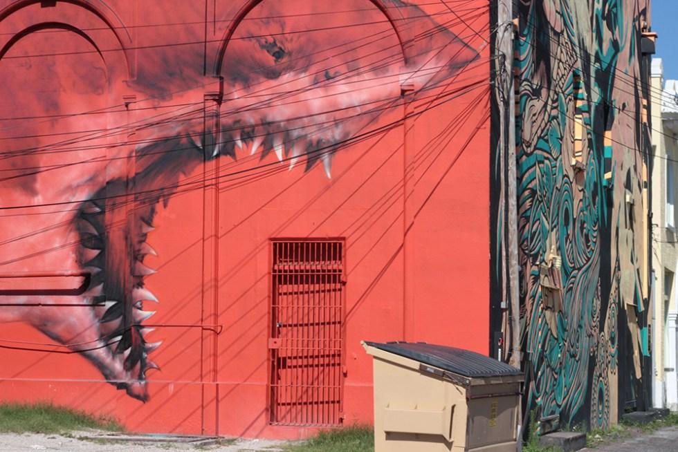 Shark mural in St. Petersburg