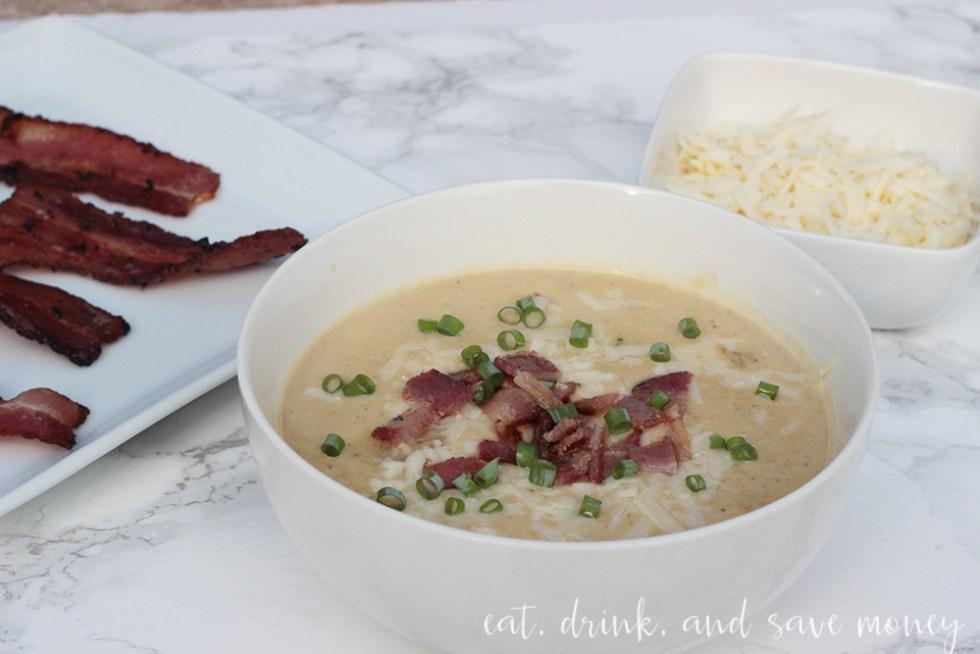 comfort food Creamy potato and leftover veggie soup
