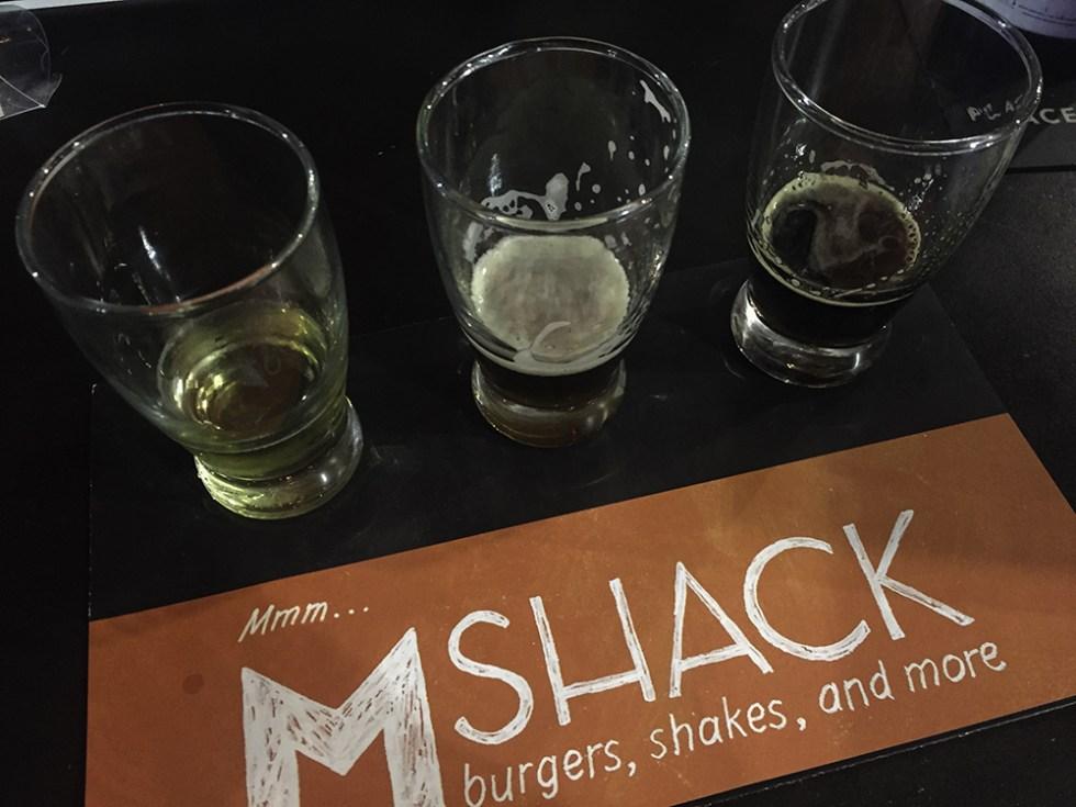 Beer tasting at M Shack in Jacksonville FL #onlyinjax