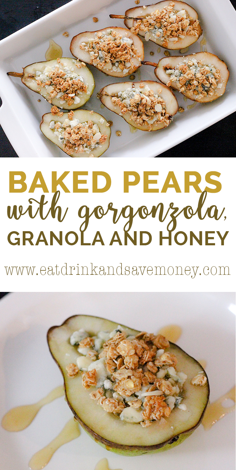 OMG- Check out this amazing blogger recipe for baked pears with gorgonzola granola and honey. It's perfect for holiday entertaining because it's so easy and tastes amazing. I can't wait to try this!