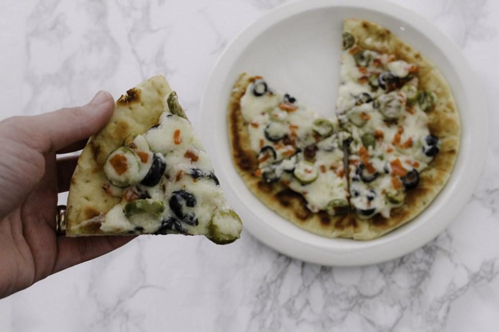Cheesy Olive Flatbread Recipe