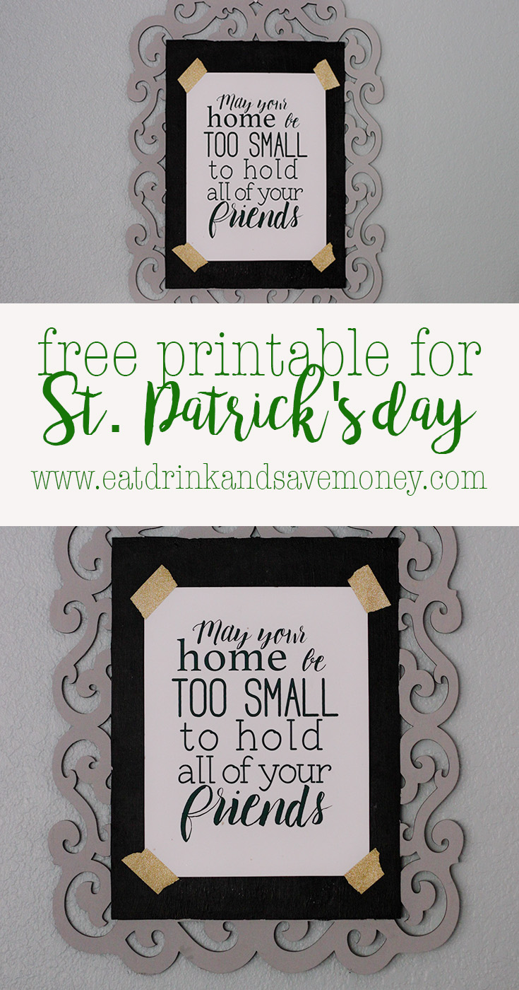 The perfect free printable for St. Patrick's Day