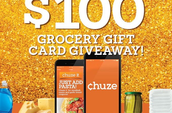 Save money with a great coupon and shopping list app called Chuze. They are hosting a giveaway right now!