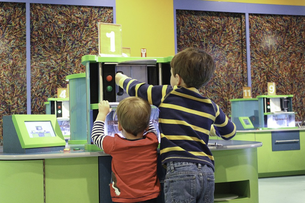 Family Activities in Orlando- Turn crayons into spin art at The Crayola Experience