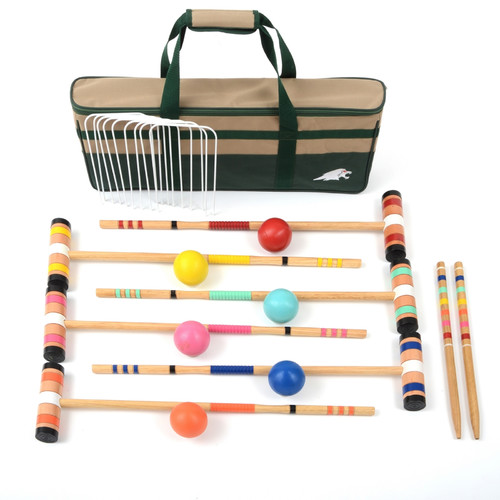 Lawn games: Wildon-Home--Select-6-Player-Croquet-Set