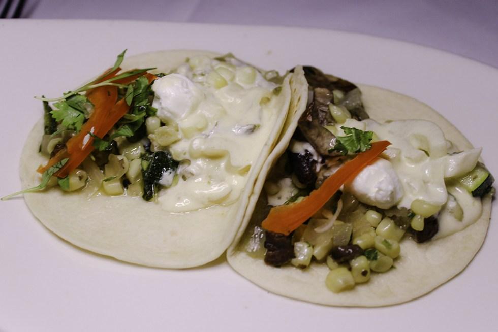 Vegetarian taco appetizer Mexico Epcot Disney World