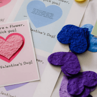 Free Printable Valentine's Cards for Seed Paper Hearts