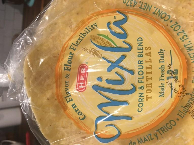 HEB Mixla tortillas with the copy,