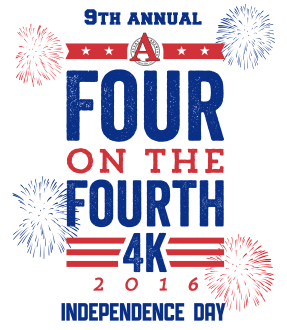 Four on the Fourth 4K logo 2