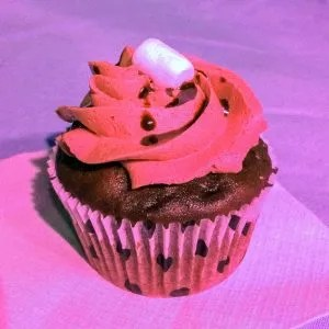 The CupCAKE Contessas winning entry, a Mexican Hot Chocolate cupcake