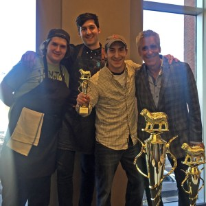 Team Gracie's wins the Middle Eastern category trophy at the Boston Lamb Jam