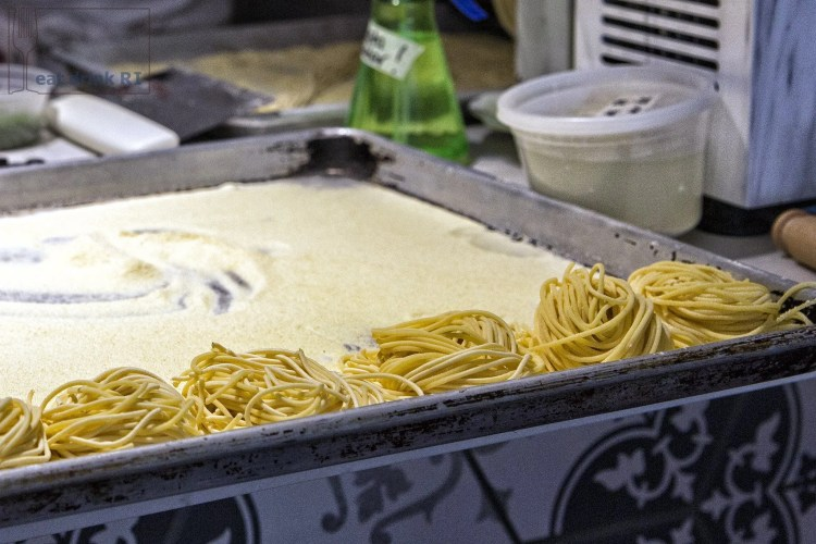 Fresh pasta being made at Persimmon (click to make larger)