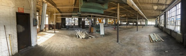Interior of second floor of 235 West Park St., future home of the West Park Food Hall
