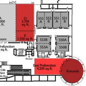 RICC Floorplan - Areas in red are for Grand Tasting