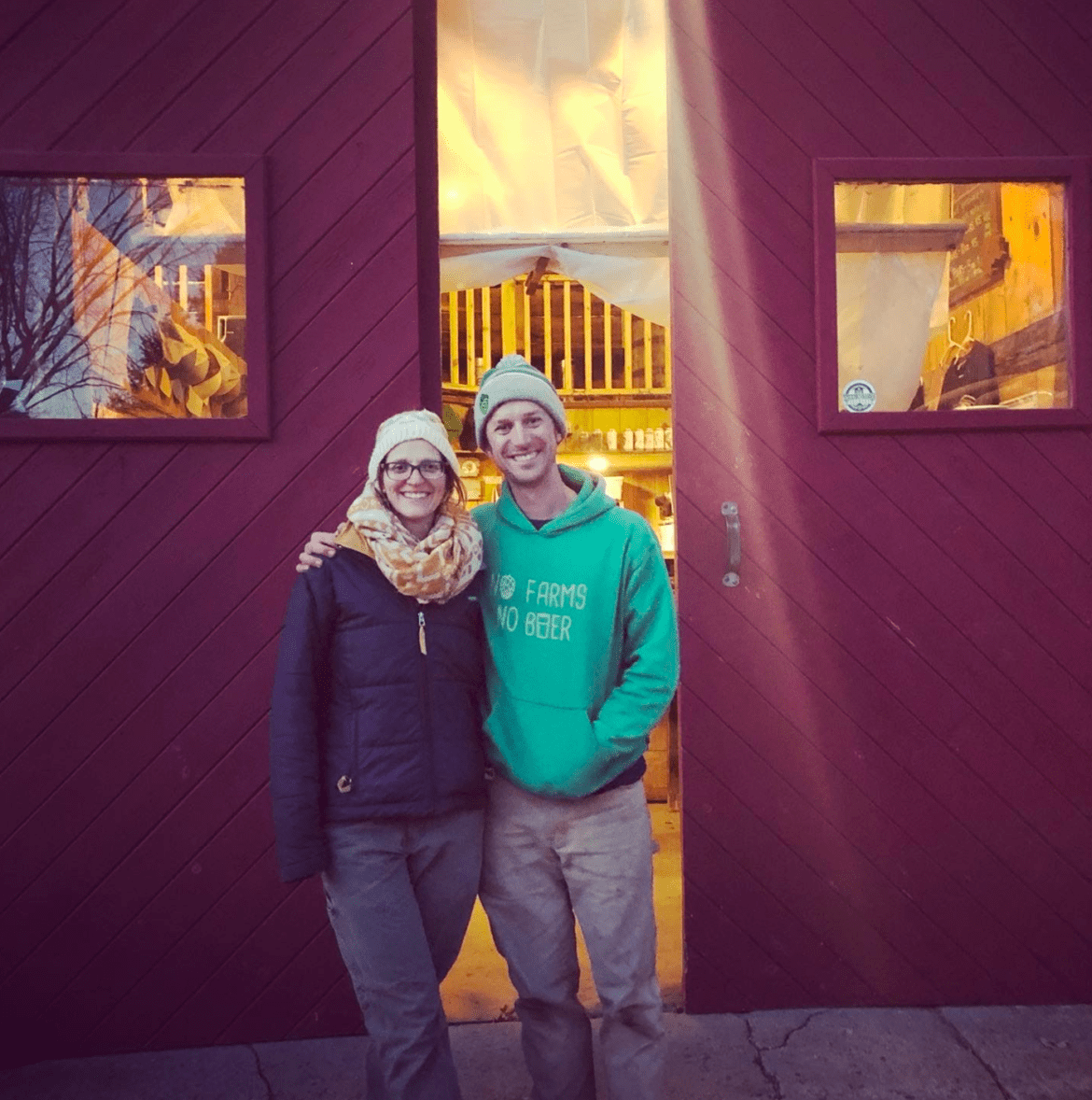 Kara and Matt Richardson, owners/brewer of Tilted Barn Brewery