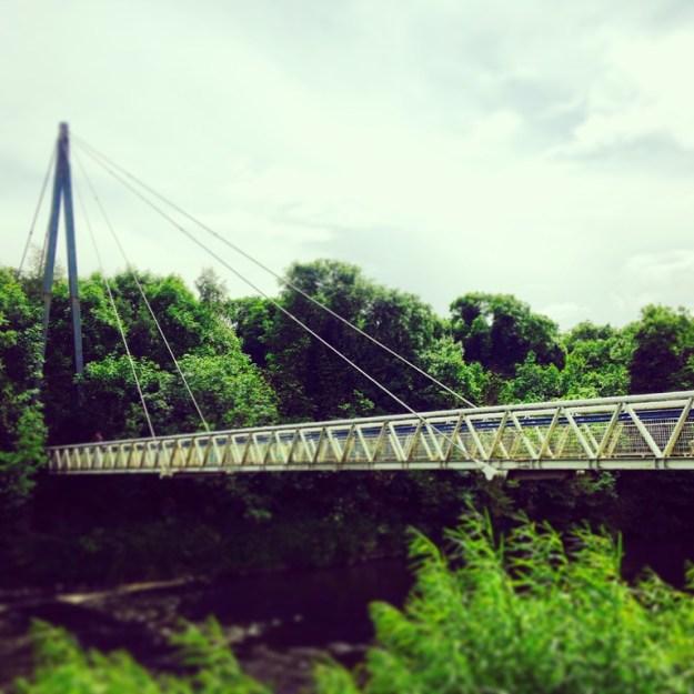 Pedestrian Bridge Across River Boyne