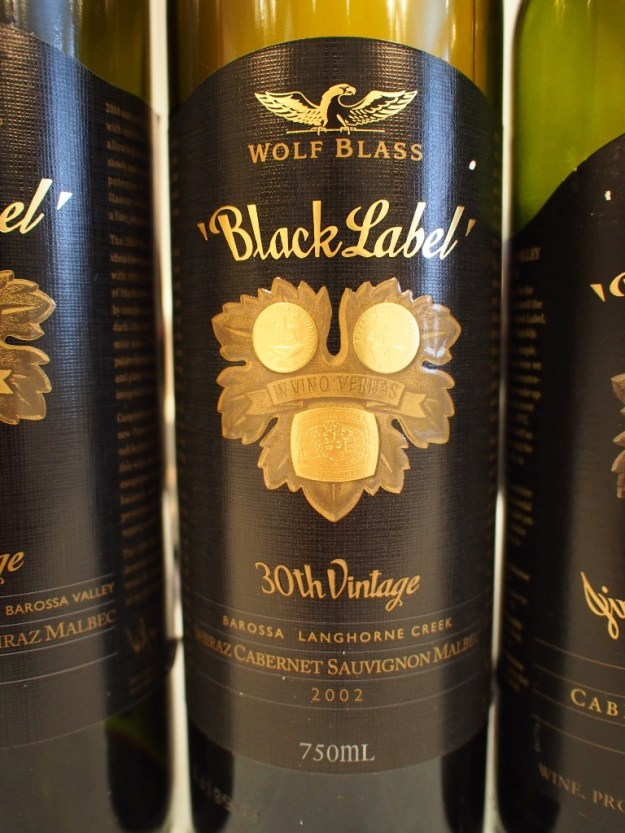 The 2002 Black Label Wolf Blass