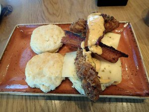 Chicken and biscuits.  | Photo by Steve Coomes