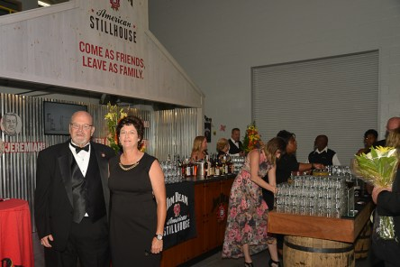 One of the bourbon business's favorite couples: Fred and Sandy Noe.