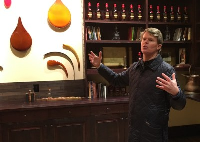 Rob Samuels, COO at Maker's Mark, in the Whisky Cellar's tasting room. | Photo by Steve Coomes