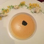 Crab and corn bisque, Anthony Lamas