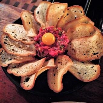 Bistec Tartare de Waygu (Spicy Steak Tartare of Raw, Grass-fed Wagyu Beef)