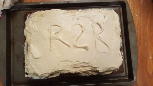We just had to leave our mark in the frosting!