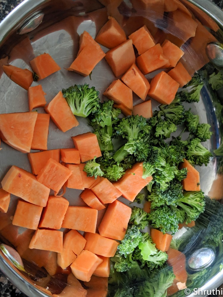 Sweet Potato and Broccoli Puree 3