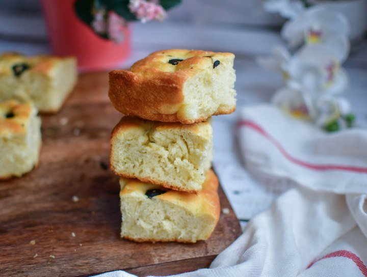 Focaccia with Olive and Herbs 9