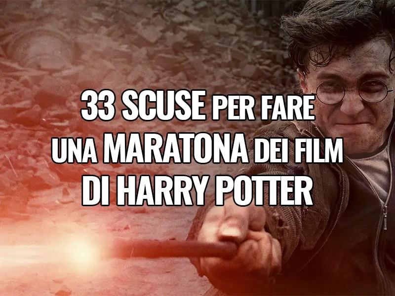 33 scuse per fare una maratona dei film di Harry Potter