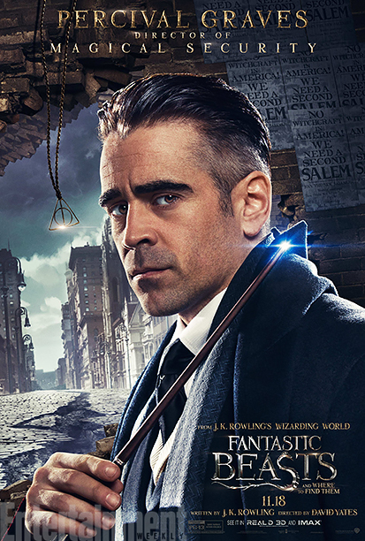 GALLERY: Fantastic Beasts and Where to Find Them - *EXCLUSIVE* Character Posters - Colin Farrell as Percival Graves