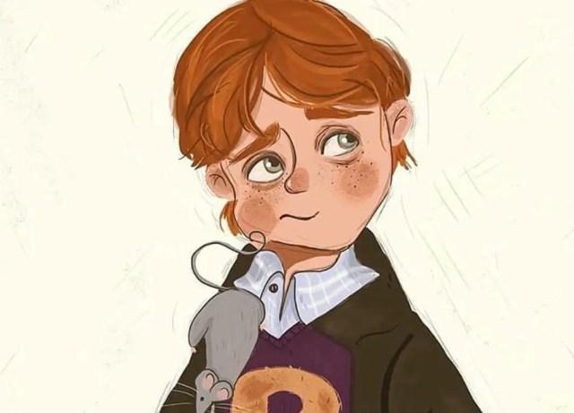 Fan Art Harry con il 'topo' Crosta sulla spalla
