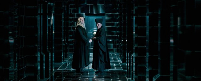 Lucius Malfoy e Cornelius Caramell