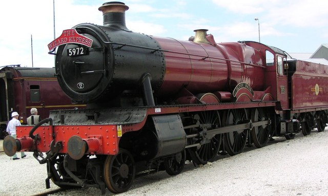 La Olton Hall, il treno a vapore usato per l'Hogwarts Express