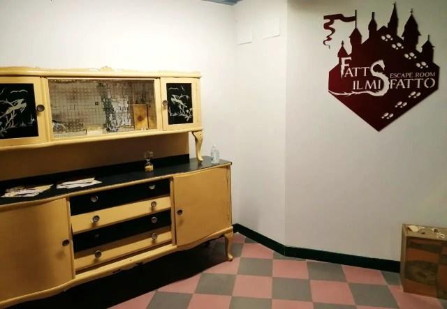 angolo dell'ingresso dell'escape room fatto il misfatto a brescia