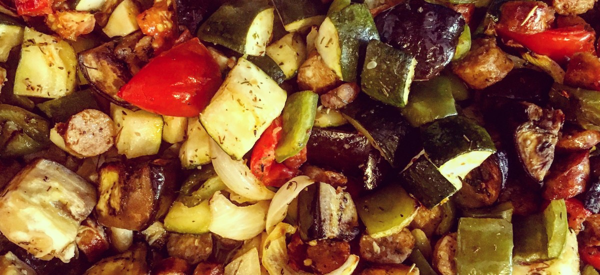 This roasted ratatouille will knock your socks off!
