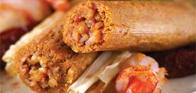 Online mail order Tex-Mex seafood tamale