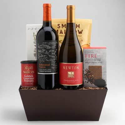 High quality wine basket gifts from Wally's Wine in Los Angeles