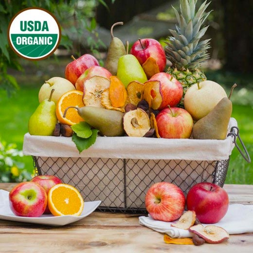 Organic Fruit Basket Gift from The Fruit Company Available on Amazon